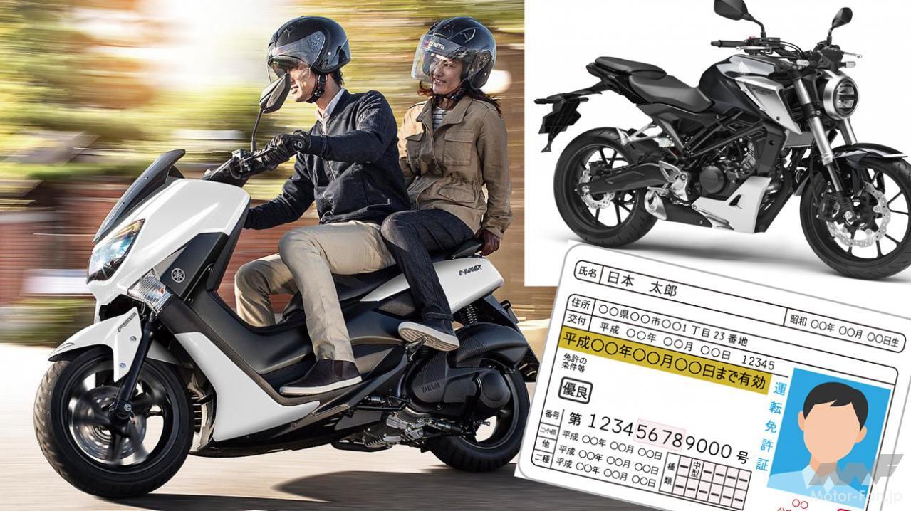バイクと運転免許証