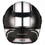 空力良し、軽さ良し! オージーケーカブトのカーボンヘルメット、AEROBLADE-5Rに 新柄「SM-1」登場 - th_aeroblade5r_sm1_blackwhite_rear