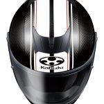 空力良し、軽さ良し! オージーケーカブトのカーボンヘルメット、AEROBLADE-5Rに 新柄「SM-1」登場 - th_aeroblade5r_sm1_blackwhite_up