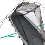 ソロツーリング、ソロキャンプにベストなサイズ! 収納サイズ45cmのテント付きコット ドッペルギャンガー・バイクツーリングコットテント - コットテント-4