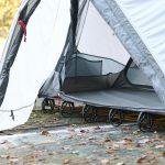 ソロツーリング、ソロキャンプにベストなサイズ! 収納サイズ45cmのテント付きコット ドッペルギャンガー・バイクツーリングコットテント - コットテント-7