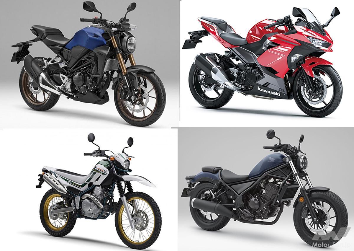 「バイク初心者にオススメの250cc|アンケート調査結果:1位CB250R、2位ニンジャ250。その理由は?」の1枚目の画像