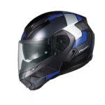 快適性を追求した新世代システムヘルメット「RYUKI(リュウキ)」に新柄「FEEL( フィール)」登場|KABUTO - ryuki_feel_black-blue