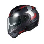 快適性を追求した新世代システムヘルメット「RYUKI(リュウキ)」に新柄「FEEL( フィール)」登場|KABUTO - ryuki_feel_black-red-2