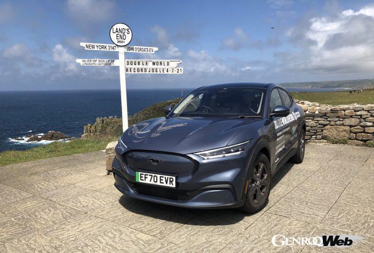 最新電気自動車フォード マスタング マッハ-E、英国において「EVの後続距離」ギネス世界記録を樹立