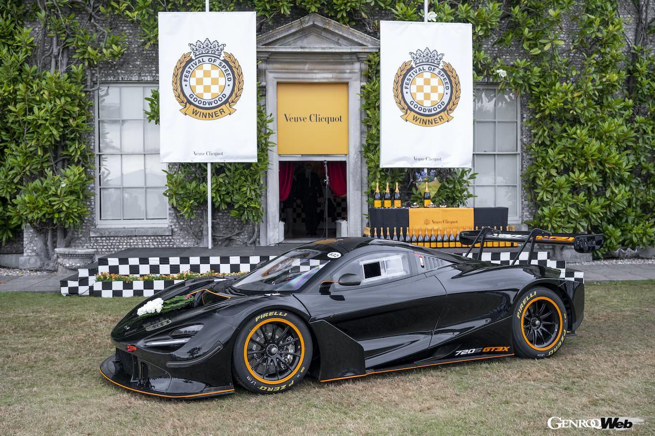 「マクラーレン 720S GT3X、グッドウッドで開催された「タイムド・シュートアウト・ファイナル」で優勝」の1枚目の画像