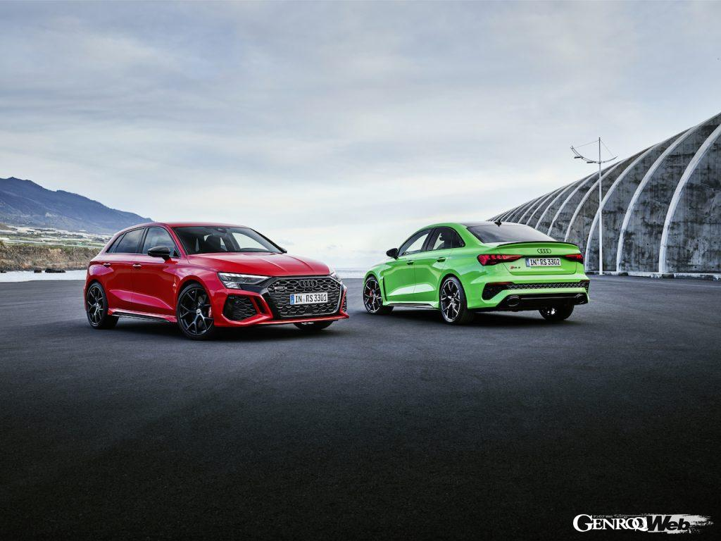 最高出力400p、最高速度290km/hを実現した新型「アウディ RS 3 スポーツバック/セダン」がデビュー