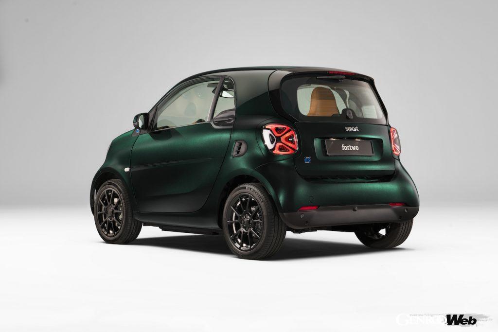 スマートEQ フォーツー クーペにブラバスによるスポーティなトリムを採用、「 レーシンググリーン エディション」