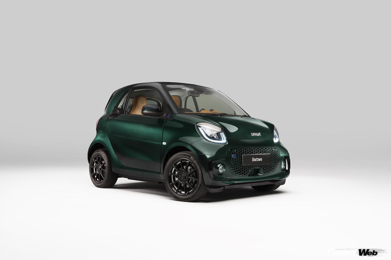 スマート EQ フォーツー クーペにブラバスによるスポーティなトリムを採用、「 レーシンググリーン エディション」