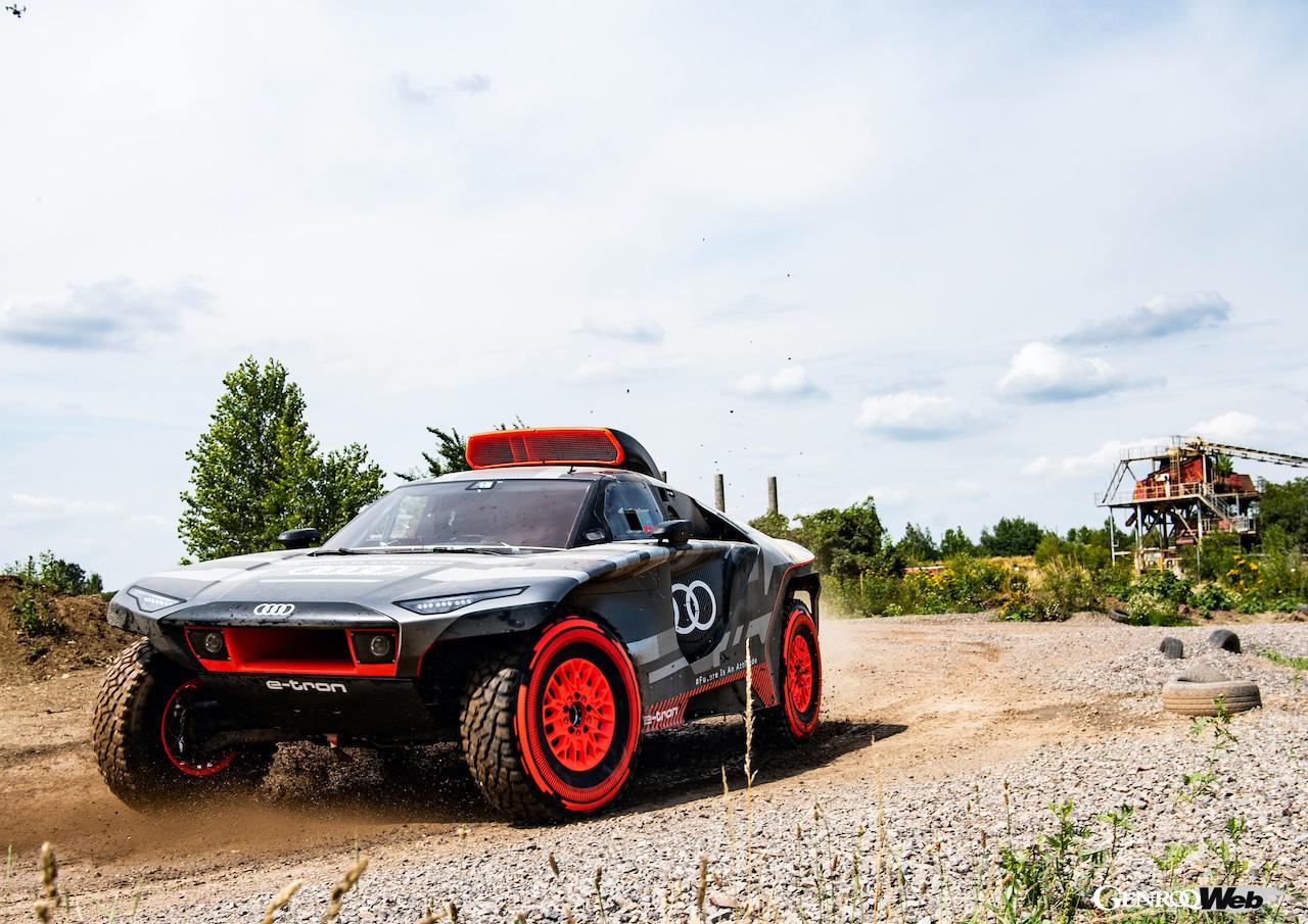 アウディ、ダカール・ラリーへの参戦発表! 電動プロトタイプ「アウディ RS Q e-tron」での挑戦に