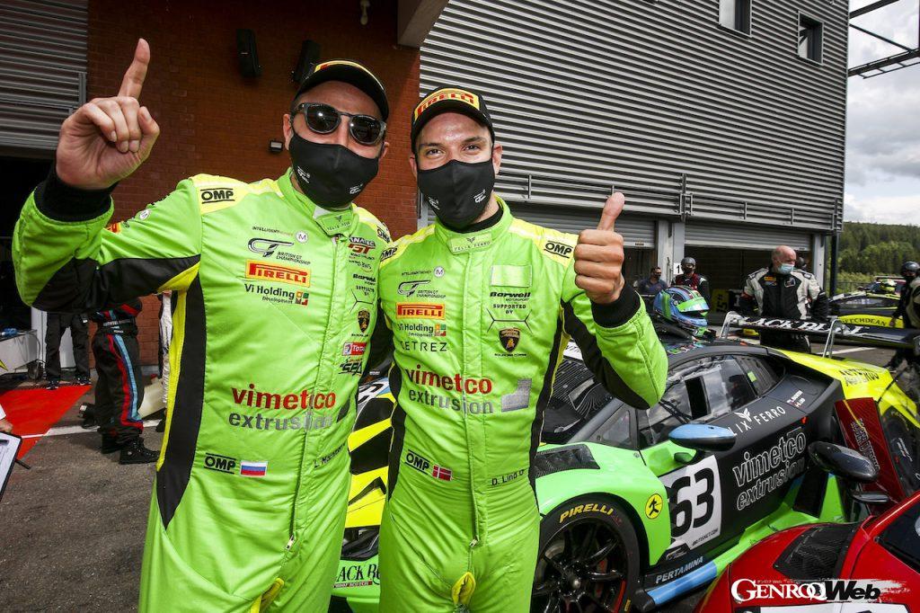 英国GT選手権第4戦スパ・フランコルシャン、ランボルギーニ ウラカンGT3 EVOが1-2フィニッシュを達成