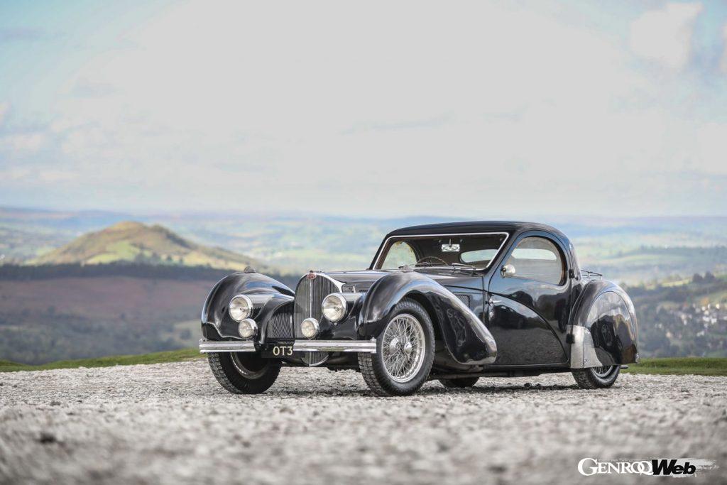 1937年製ブガッティ タイプ57 アタランテのフロントビュー