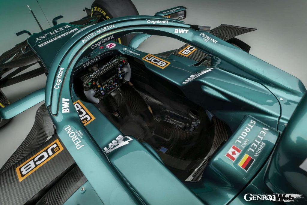 アストンマーティン コグニザント F1チームのマシン、AMR21。コクピット
