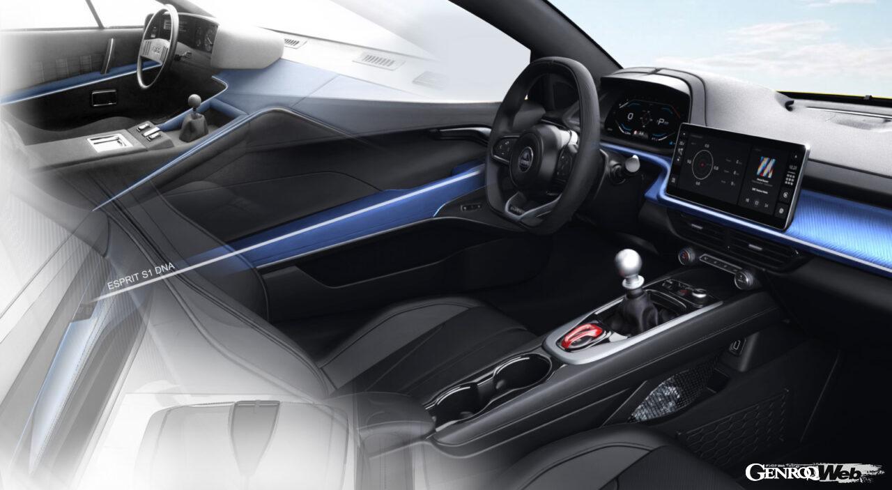 「ロータス エミーラが全貌を公開! 最後の内燃機関にはトヨタ製V6とAMG製直4ターボの2種類を用意」の2枚目の画像