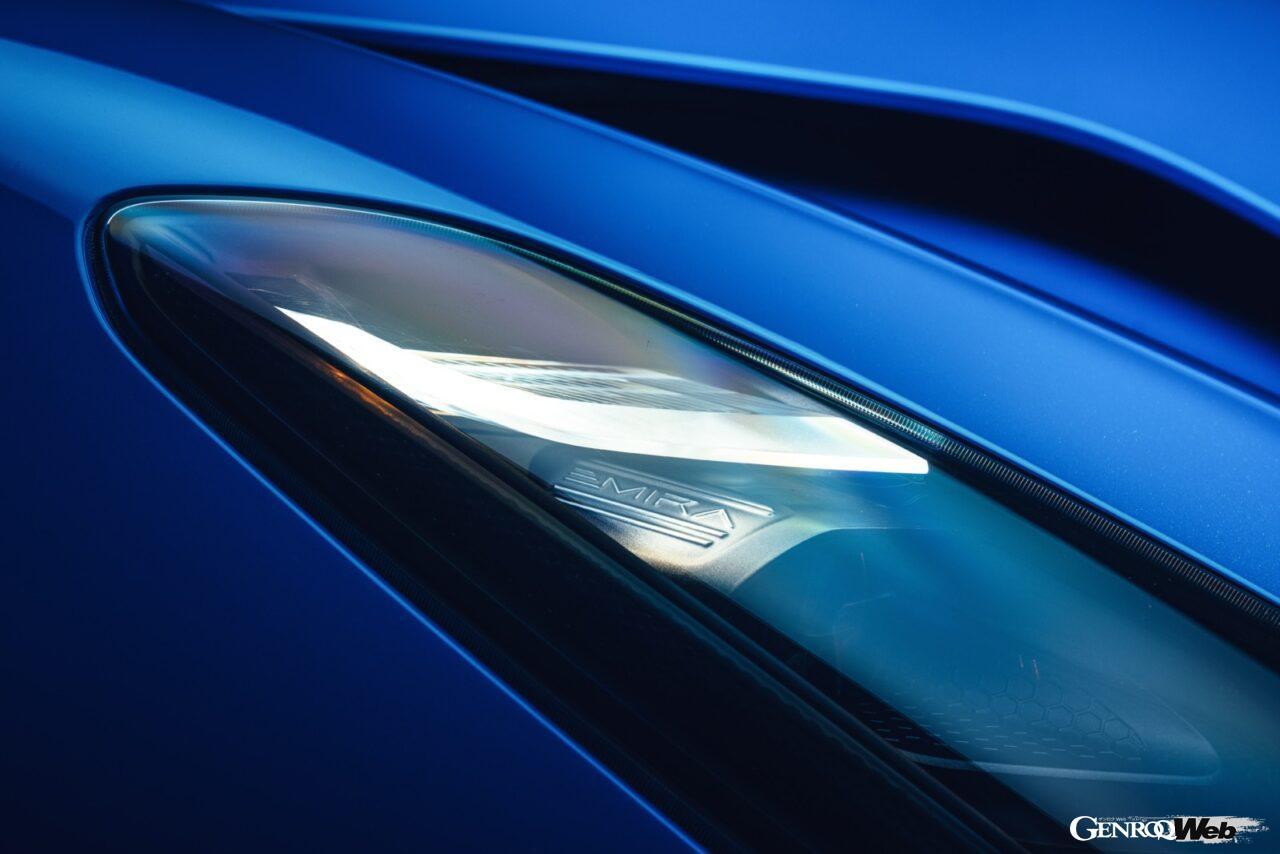 「ロータス エミーラが全貌を公開! 最後の内燃機関にはトヨタ製V6とAMG製直4ターボの2種類を用意」の24枚目の画像