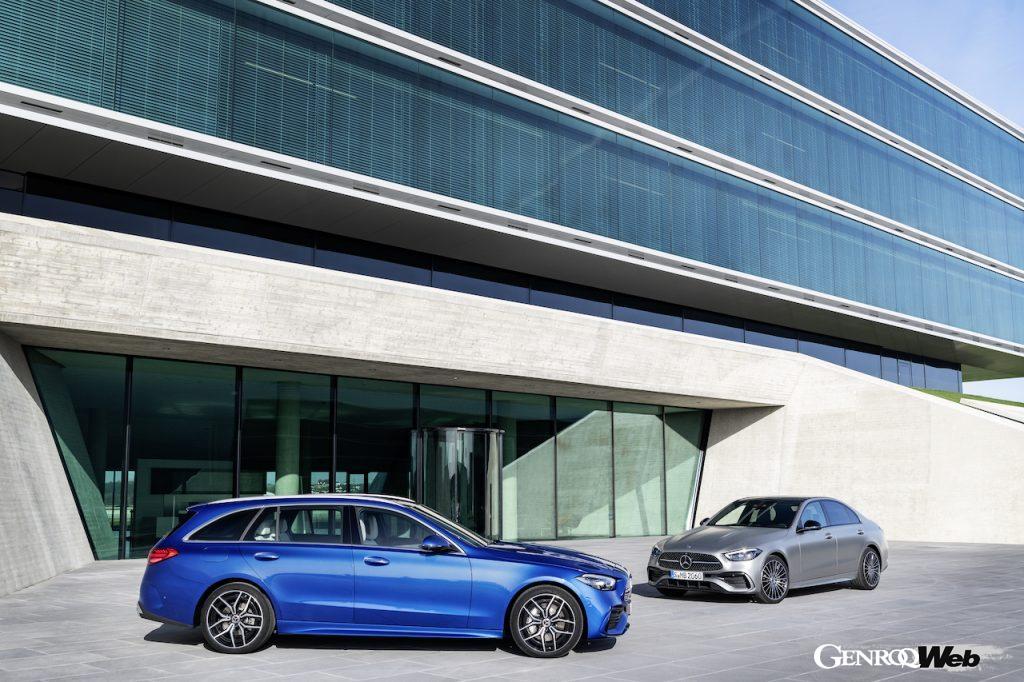 メルセデス・ベンツ新型Cクラスのセダンとステーションワゴン