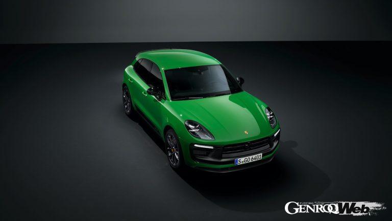 改良新型ポルシェ マカン GTS スポーツパッケージ仕様のフロントビュー