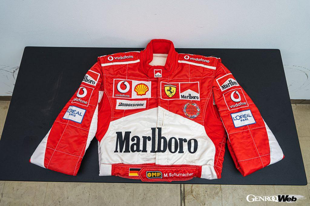 ミハエル・シューマッハが着用した2005 F1 ハンガリーGPのレーシングスーツ