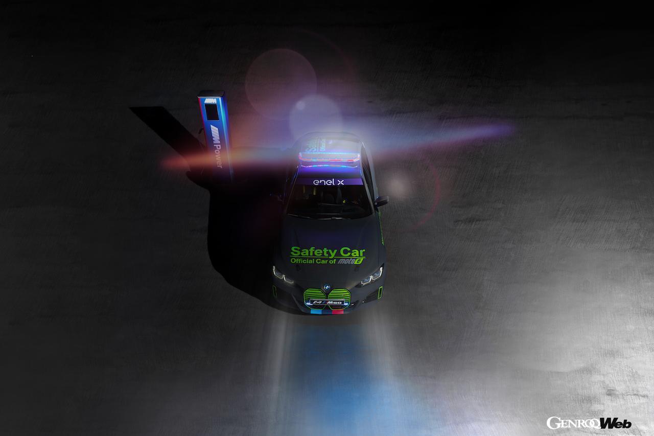 電動ロードレースシリーズ「Enel MotoE ワールドカップ」に、最新のBMW i4 M50 セーフティカーを投入