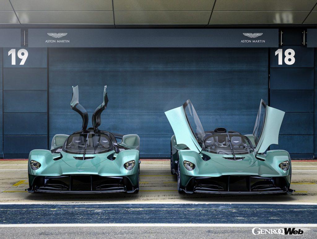 F1マシンを彷彿とさせるオープントップ、「アストンマーティン ヴァルキリー スパイダー」デビュー