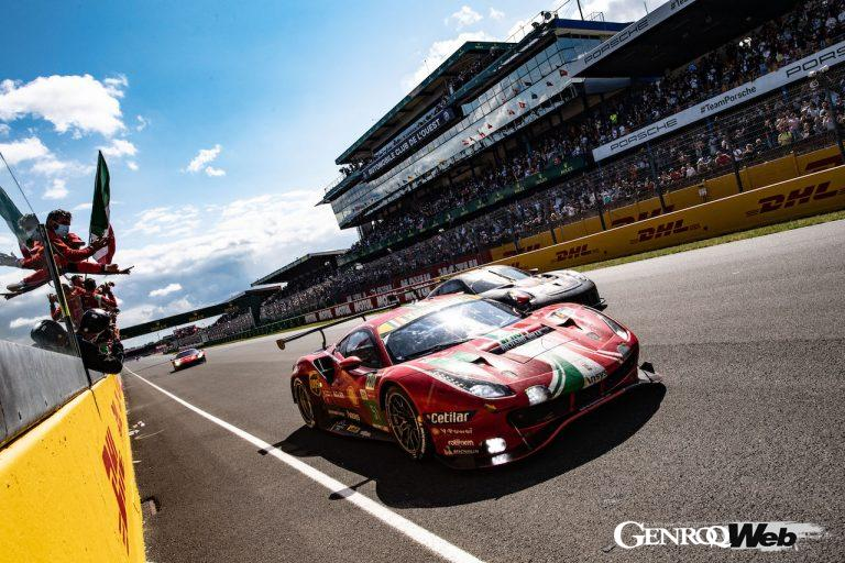 2021年のル・マン24時間レース、「フェラーリ488 GTE」がGTE ProとGTE Amの2クラス制覇を達成