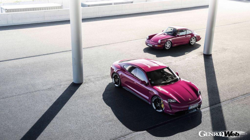 「ポルシェ タイカン」が新たなモデルイヤーに切り替え、タイプ964時代のボディカラーも選択可能に