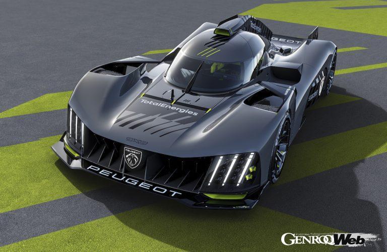 プジョーが発表した最新レースカー 9X8のフロントビュー