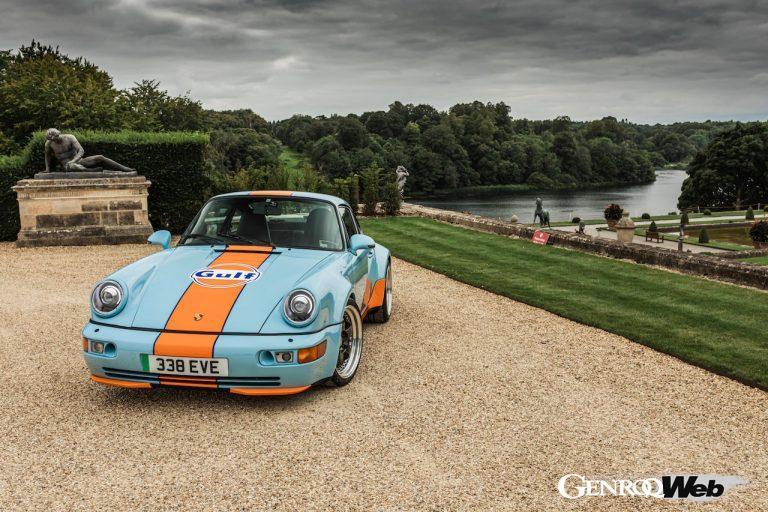 ガルフ・カラーを纏った電動964、「エバラティ エレクトリック ポルシェ 911 ガルフ シグネチャー エディション」を世界初公開
