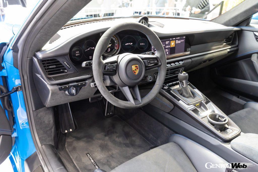 ポルシェ911 GT3のインテリア