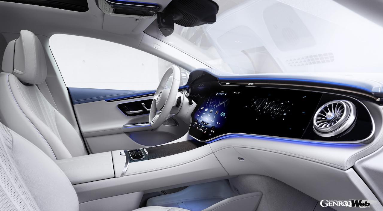 「メルセデス・ベンツ EQEは次世代のビジネスサルーン! 「電気で走るEクラス」はどこがスゴイのか 【IAAモビリティ レポート】」の10枚目の画像