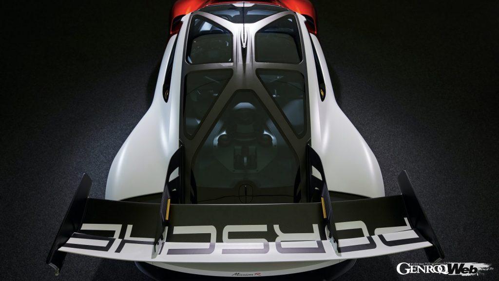ポルシェのスタディモデル、ミッションRのルーフ