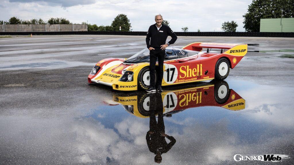 1987年ADACスーパーカップ優勝マシン「ポルシェ 962C」を、ハンス=ヨアヒム・スタックがドライブ