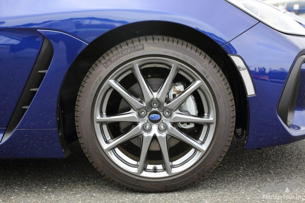 新型スバルBRZのRグレードのホイール