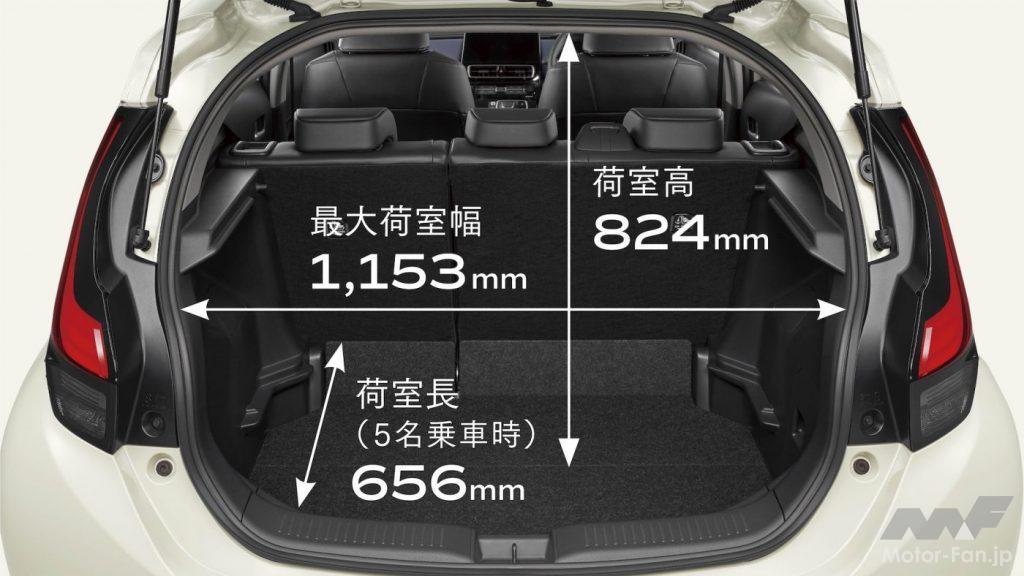 新型トヨタ・アクアの荷室