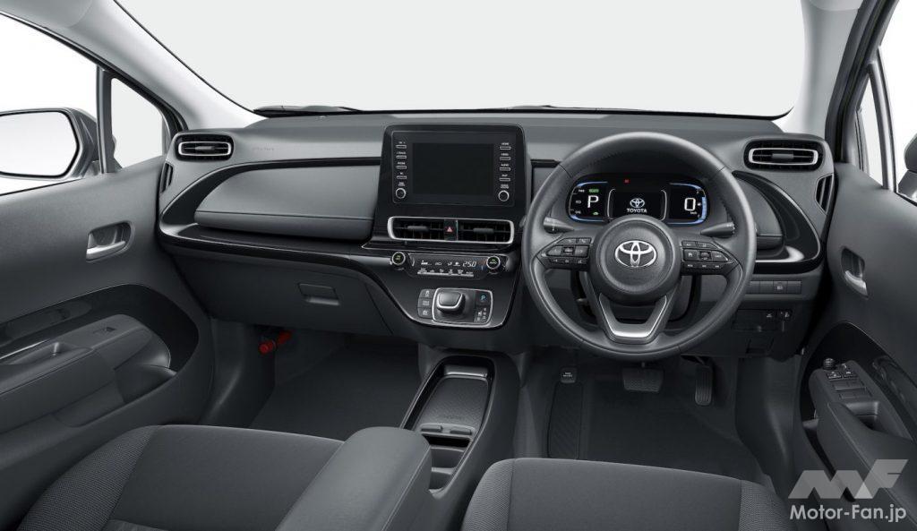 新型トヨタ・アクアGのインパネ
