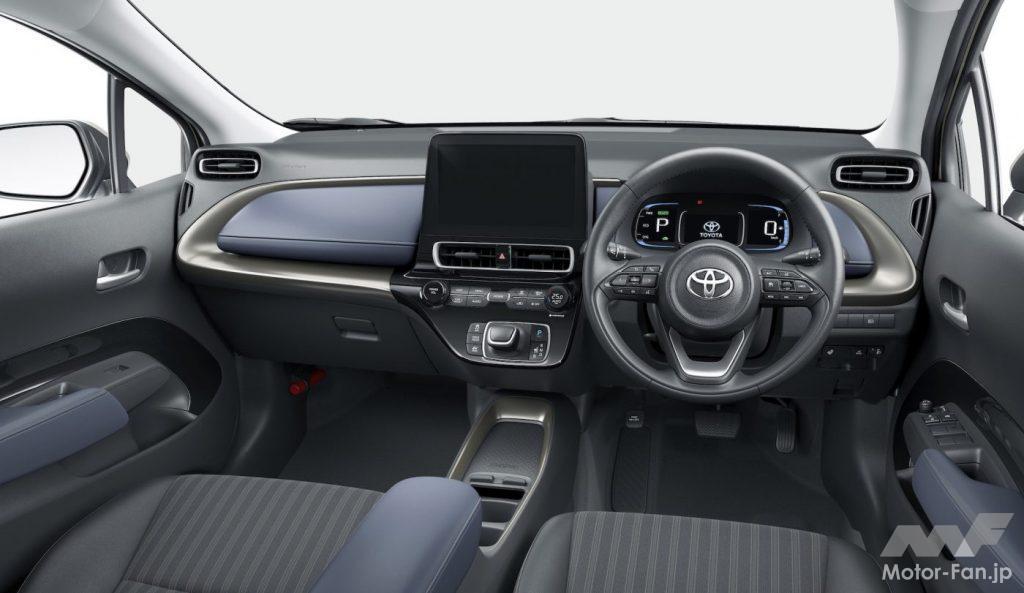 新型トヨタ・アクアのインパネ