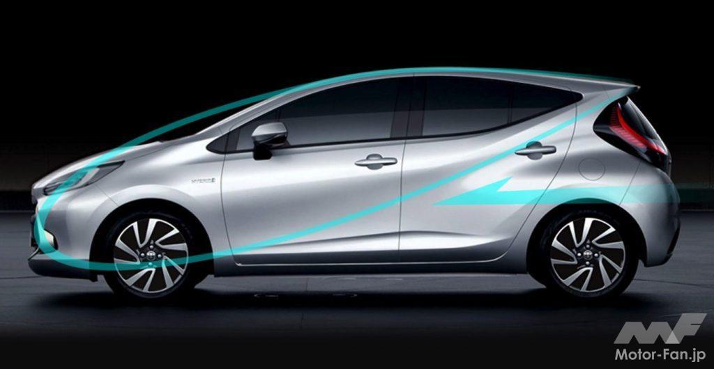新型トヨタ・アクアのサイドデザイン