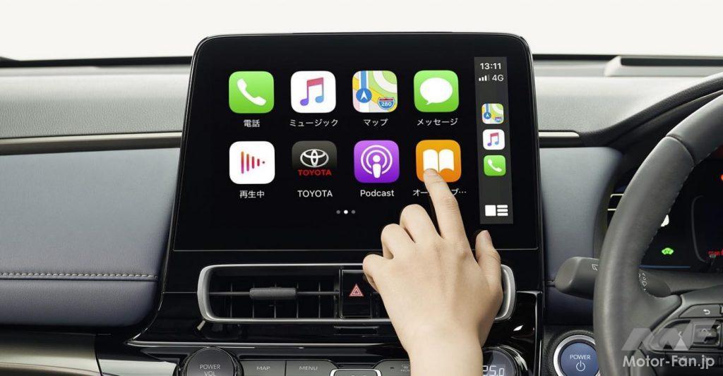 新型トヨタ・アクアのタッチディスプレイ