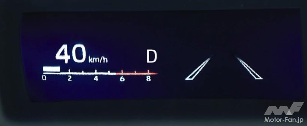 新型トヨタ・アクアのヘッドアップディスプレイ