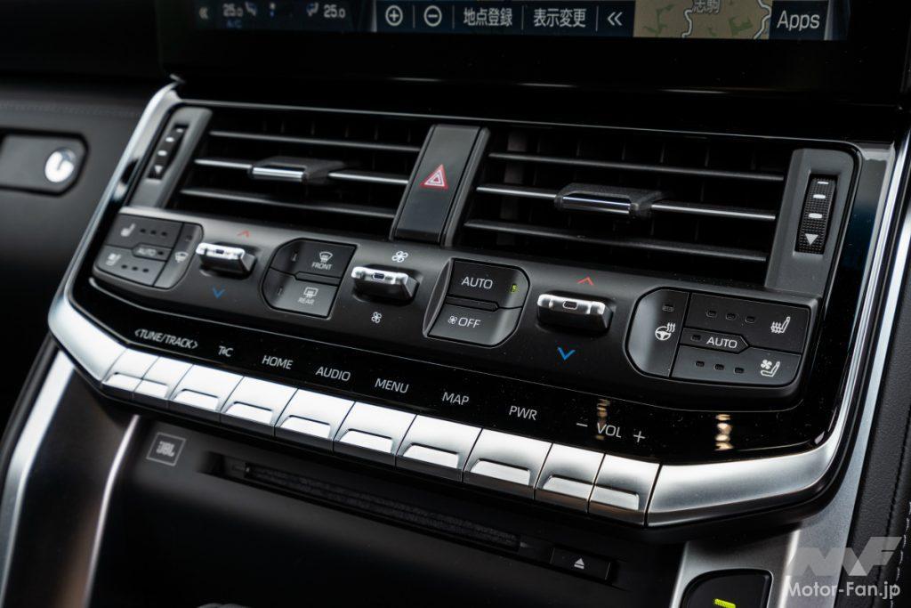 トヨタ ランドクルーザー GR SPORTのエアコン