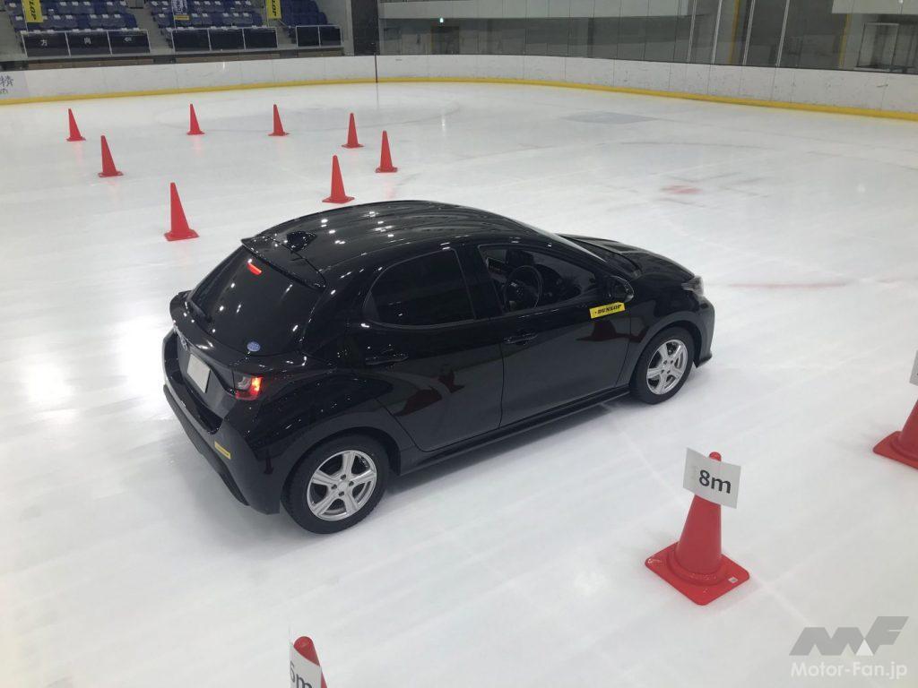 ウインターマックス03の氷上走行テスト風景