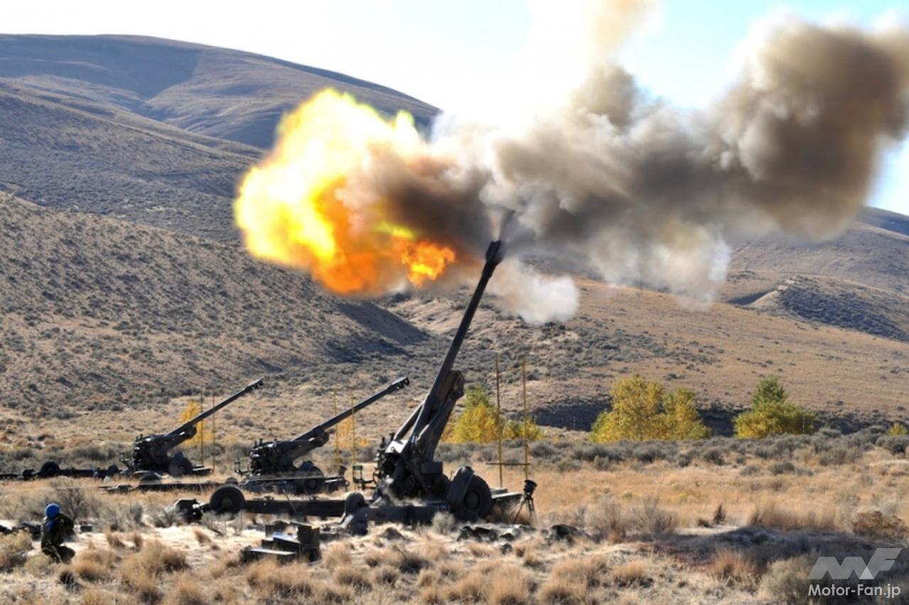 「スバル製水平対向エンジンで自走できる長距離砲「155㎜榴弾砲 FH-70」:陸上自衛隊」の2枚目の画像