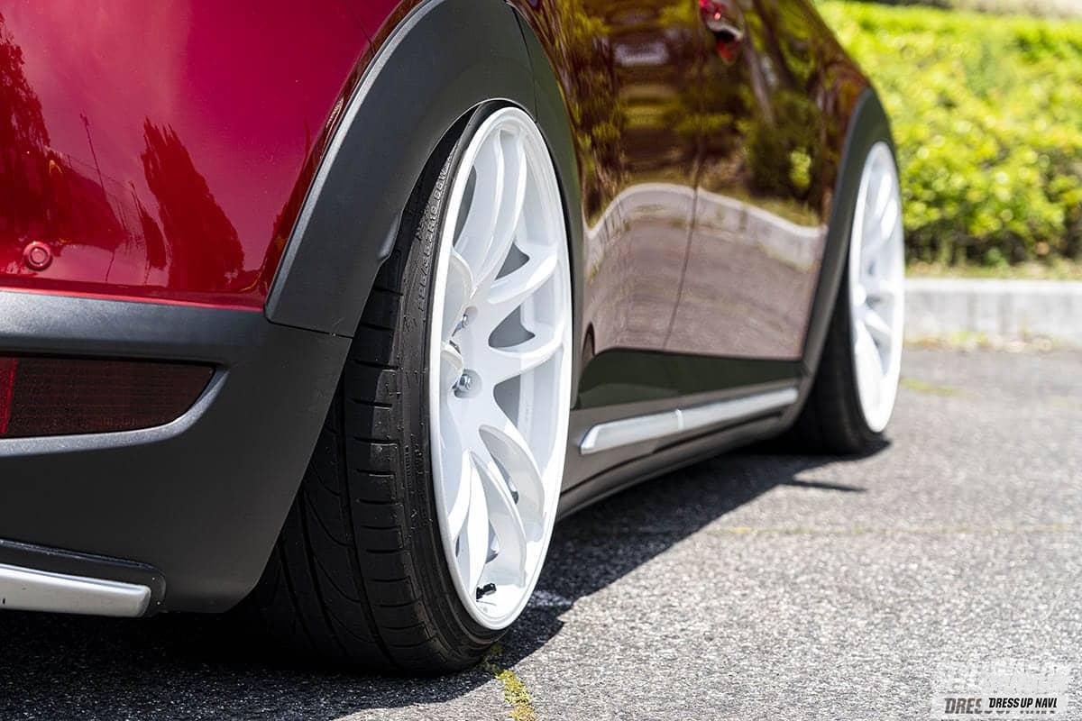 「【車高短系SUV_VOL1】エアサス派のCX-3と車高調派のCX-5 クーペのようなローフォルムが渋い!」の9枚目の画像