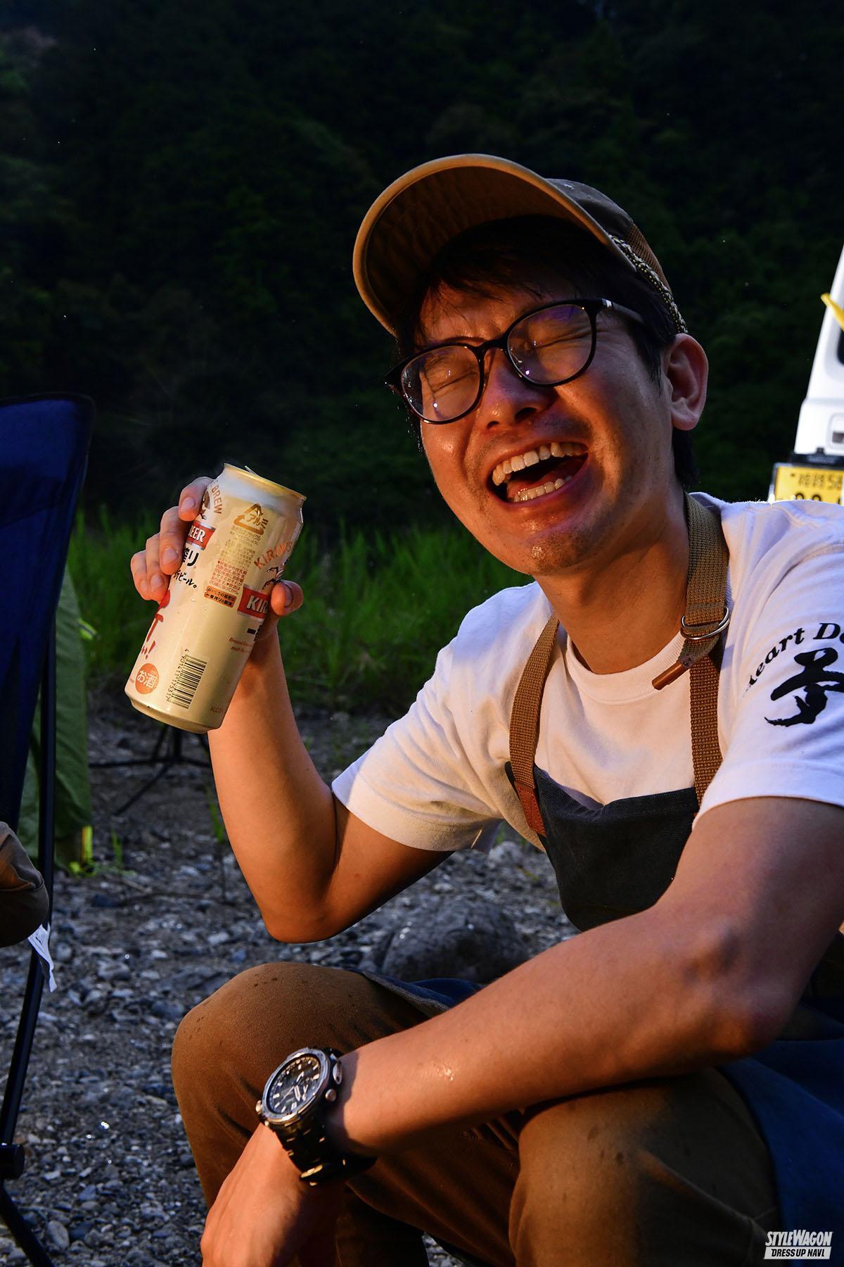 「【羨ましい! ジムニーのある生活_男のキャンプ】森の中で日常を忘れうまい料理を食らい笑う」の5枚めの画像