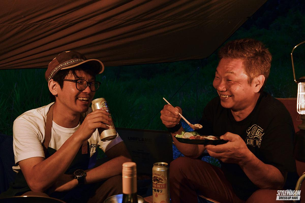 「【羨ましい! ジムニーのある生活_男のキャンプ】森の中で日常を忘れうまい料理を食らい笑う」の1枚めの画像