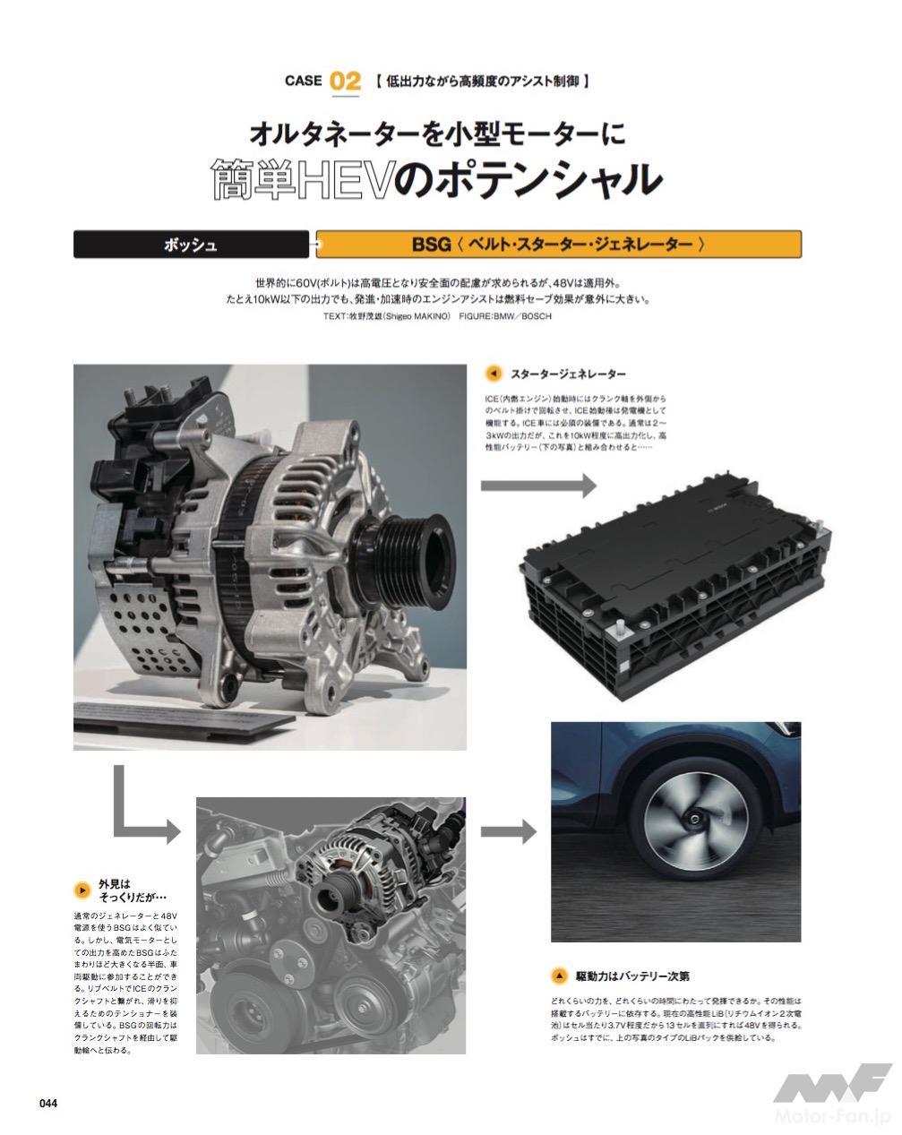 「絶妙なアシスト、48V-BSGの仕組み:MFi180号「電気のチカラ」特集」の4枚目の画像