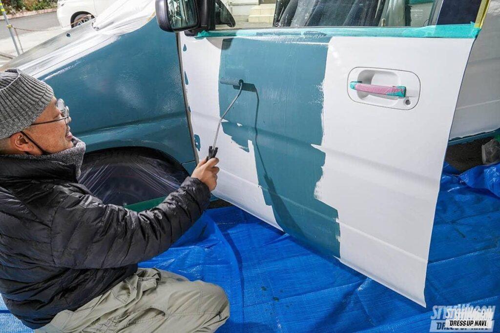 時代はアースカラー!【たった2万5300円でボディ全塗装】ハケとローラーを使ってDIYオールペイント!【前編】